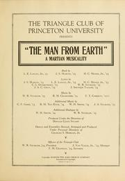 Cover of: man from earth |