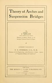 Cover of: Theory of arches and suspension bridges