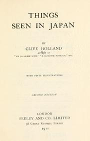 Cover of: Things seen in Japan. | Clive Holland