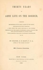 Cover of: Thirty years of Army life on the border | Randolph Barnes Marcy