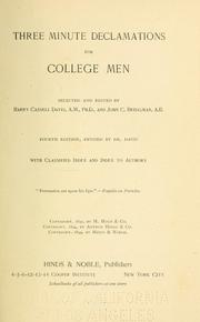 Three minute declamations for college men by Harry Cassell Davis