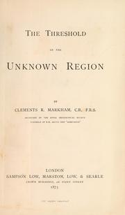 Cover of: The threshold of the unknown region