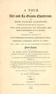 Cover of: A tour to Alet and La Grande Chartreuse