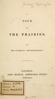 Cover of: A tour on the prairies