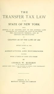 Transfer Tax Law of the state of New York
