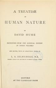 Cover of: A treatise of human nature by David Hume