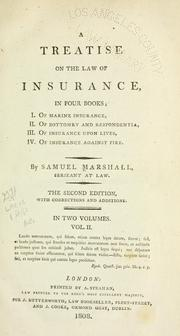 A treatise on the law of insurance by Samuel Marshall