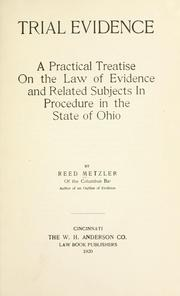 Cover of: Trial evidence