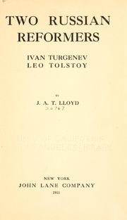 Cover of: Two Russian reformers