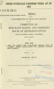 Cover of: United States-Flag Passenger Vessel Act of 1993