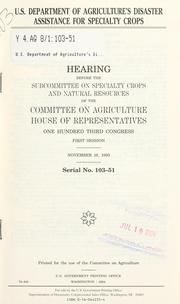 Cover of: U.S. Department of Agriculture