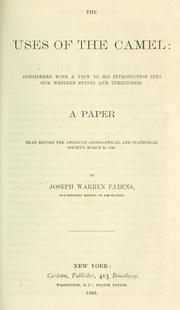 The uses of the camel by Joseph Warren Fabens