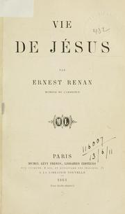 Cover of: Vie de Jésus