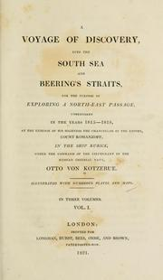 Cover of: A voyage of discovery: into the South Sea and Beering's straits, for the purpose of exploring a north-east passage, undertaken in the years 1815-1818, at the expense of His Highness ... Count Romanzoff, in the ship Rurick, under the command of the lieutenant in the Russian imperial navy, Otto von Kotzebue.