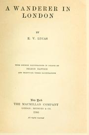 Cover of: A wanderer in London