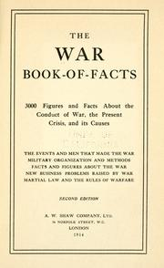 Cover of: The war book-of-facts |