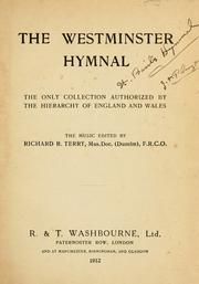 Cover of: The Westminster hymnal by the music edited by Richard B. Terry.