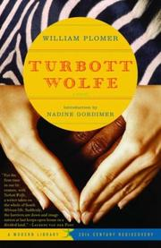 Cover of: Turbott Wolfe