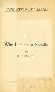 Cover of: Why I am not a socialist