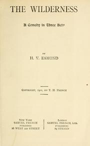Cover of: The wilderness | H. V. Esmond