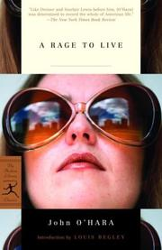 Cover of: A rage to live
