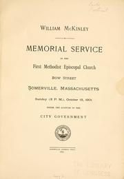 Cover of: William McKinley. | Somerville (Mass.)