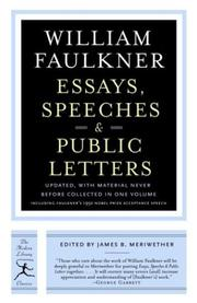 Cover of: Essays, speeches & public letters