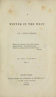 Cover of: winter in the West | Charles Fenno Hoffman