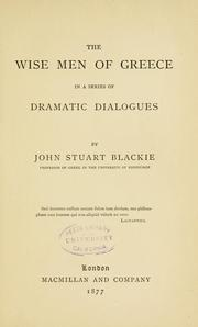 Cover of: The wise men of Greece