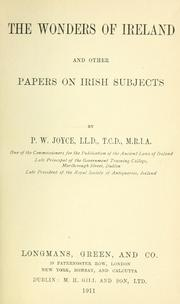 Cover of: The wonders of Ireland and other papers on Irish subjects