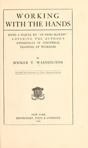 Working with the hands by Booker T. Washington