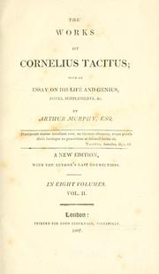 Cover of: The works of Cornelius Tacitus | P. Cornelius Tacitus