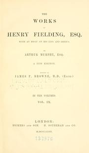 Cover of: The works of Henry Fielding, esq
