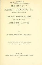 Cover of: The works of William Makepeace Thackeray