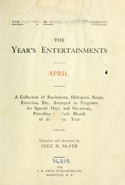 Cover of: The year's entertainment