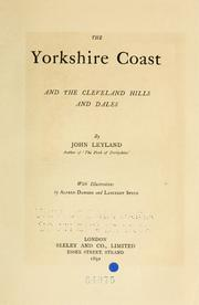 Cover of: Yorkshire coast and the Cleveland hills and dales | John Leyland