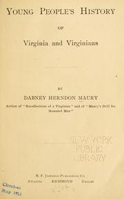 Cover of: Young people's history of Virginia and Virginians