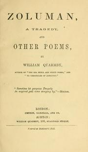 Cover of: Zoluman, a tragedy, and other poems. | William Quarmby