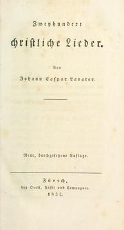 Cover of: Zweyhundert christliche Lieder