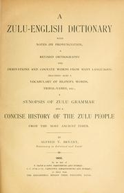 Cover of: A Zulu-English dictionary with notes on pronunciation