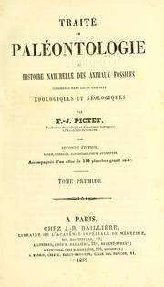 Cover of: Traité de paléontologie