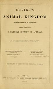 Cover of: Cuvier's Animal kingdom