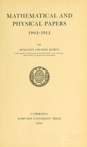 Cover of: Mathematical and physical papers, 1903-1913