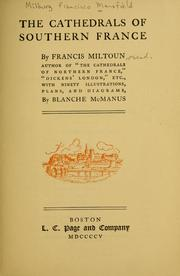 Cover of: cathedrals of southern France | M. F. Mansfield