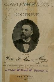 Cover of: Cowley's talks on doctrine. | Matthias F. Cowley