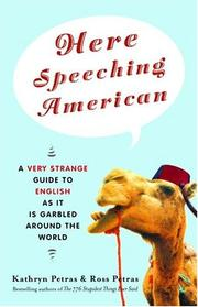 Cover of: Here speeching American