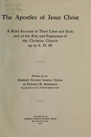 Cover of: The apostles of Jesus Christ | Edward H. Anderson