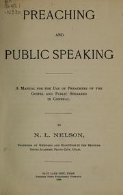 Cover of: Preaching and public speaking | Nels L. Nelson