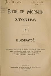 Cover of: Book of Mormon stories | George Q. Cannon