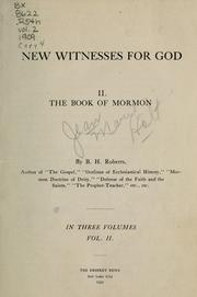 Cover of: New witnesses for God